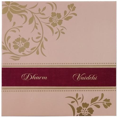Designer Wedding Invitation Card 7019