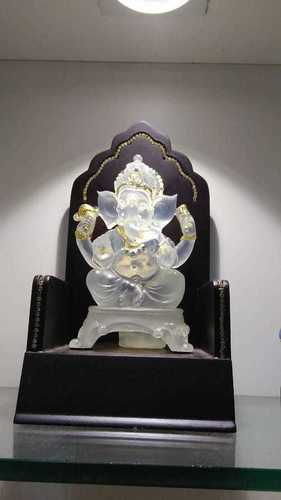 translucent white crystal ganesh