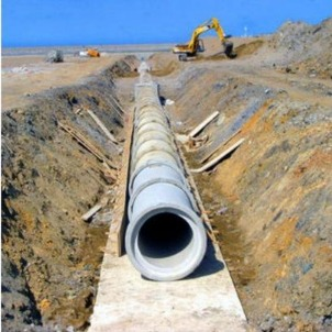 RCP Pipes placed in trenches NP4 Class RCC Pipes