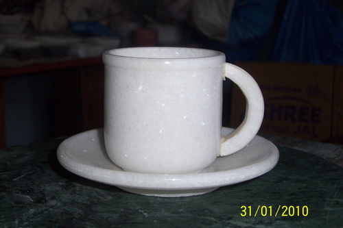 marble cup plate set