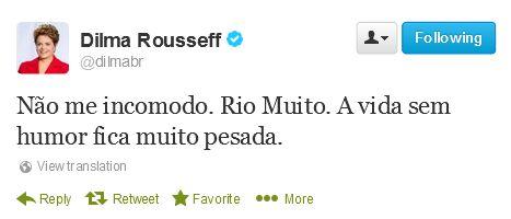 Tweet Dilma set 2013