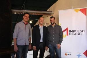 Da esquerda para a direita: Alcyr da Silva Ferreira Neto - empresário e personagem principal do Impulso Digital, Ricardo Dutra - diretor de marketing do UOL e Bruno Torres - gerente geral de marketing online do UOL