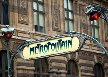 Paris, France --- Art Nouveau Sign for Paris Metro --- Image by © Eye Ubiquitous/Corbis