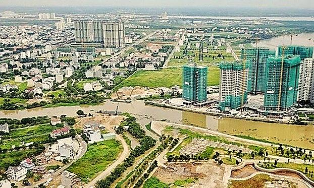 Nhiều dự án ở khu đô thị mới Thủ Thiêm hưởng lợi từ việc UBND TPHCM định giá đất quá thấp vào năm 2013 (Ảnh minh họa)