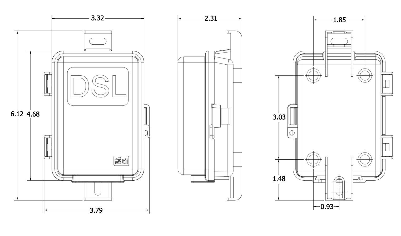 3310D Series DSL POTS Splitter Outdoor Ancillary Devices