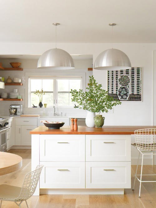 Cozinhas Brancas com Madeira  tijolosetecidos