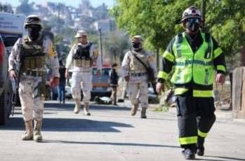 Guardia Civil vigila la zona colapsada.