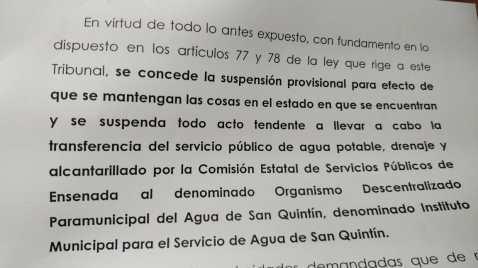 SUSPENDE SCJN TRANSFERIR ORGANISMOS DEL AGUA A MUNICIPIOS..1