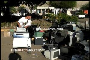 30 toneladas de basura electronica