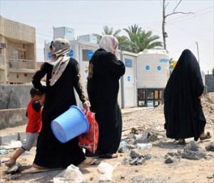 desplazados en iraq