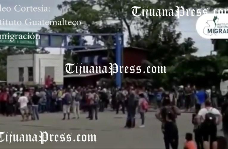 Avanza nueva caravana migrante y gobierno mexicano anuncia sanciones