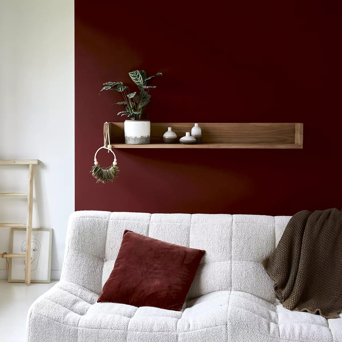 Guardi la parete dietro il tuo divano e ti sembra vuota e inutile? Scaffale A Parete In Teak 120 Cm Mobili Per Il Soggiorno Tikamoon