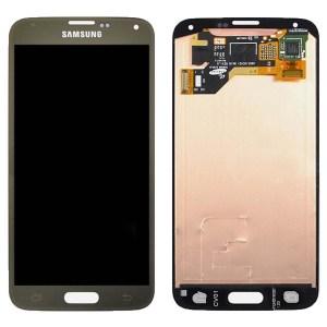 Samsung S5 LCD - זהב