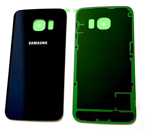 Samsung S6 Edge זכוכית אחורית - כחול