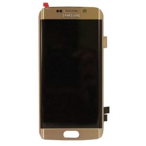 Samsung S6 Edge LCD - זהב