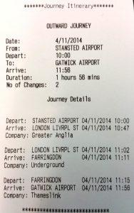 Reisadvies Stansted - Gatwick
