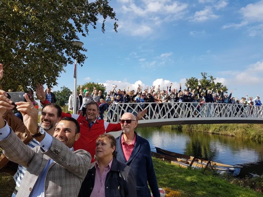 Tongelbrug - Onthulling naam door Wethouder Yasin Torunoglu - Foto René van den Nieuwenhof