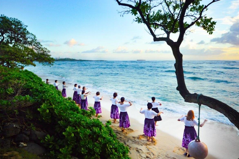 Laguna Beach Hula Group hosted at Tiki Moon Villas