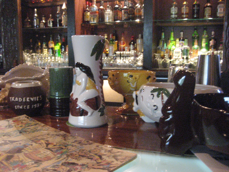 Trader Vic's tiki mugs