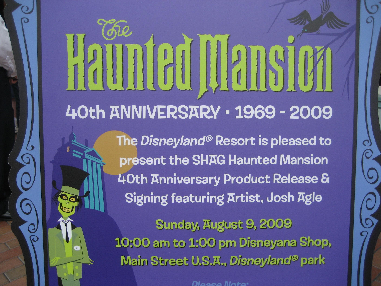 Shag Haunted Mansion Merchandise Event at Disneyland