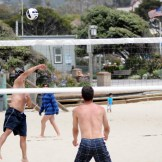 Or beach volleyball. Love the sand action.