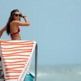 Lifeguard. Main Tower. Main Beach. Laguna Beach, USA. Lifeguards are so cool! What's she lookin at? Duh...