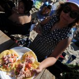 I was bummin about being PNG'd from the play area, but then this nice lady Lupita totally made my day by giving me some awesome ceviche!