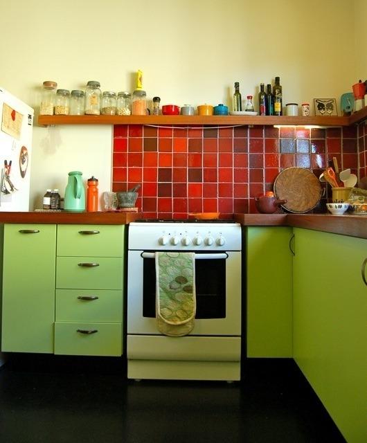 36 diseos de cocinas pequeas y coloridas  Tikinti