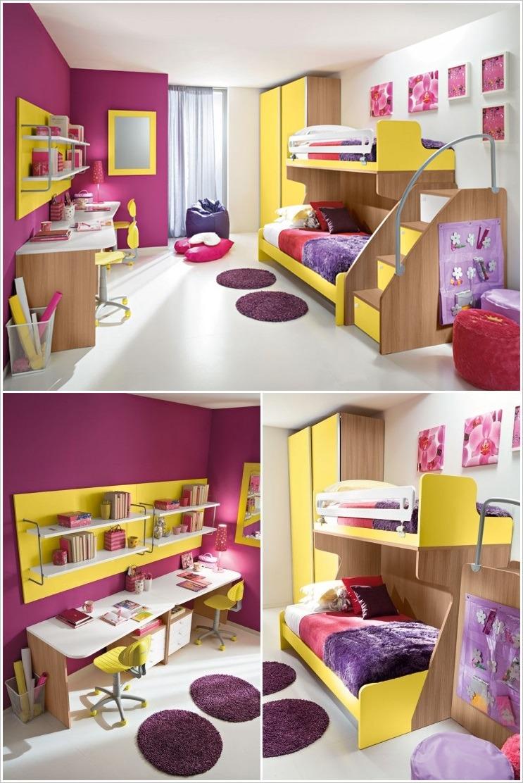 8 Ideas de habitaciones para nios decoracin alegre y