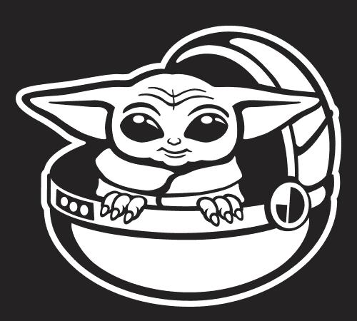 Baby Yoda Car Sticker