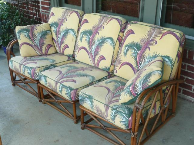 heywood wakefield wicker chairs dining room chair covers dunelm complete rattan suite paul frankl e 10 items on ebay tiki central