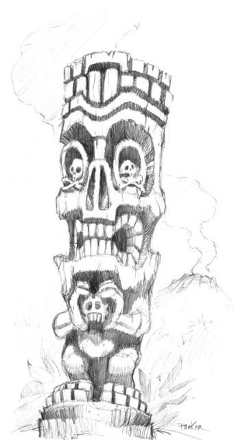The Lurid low-brow Tiki-Art of Brad (tiki-shark) Parker