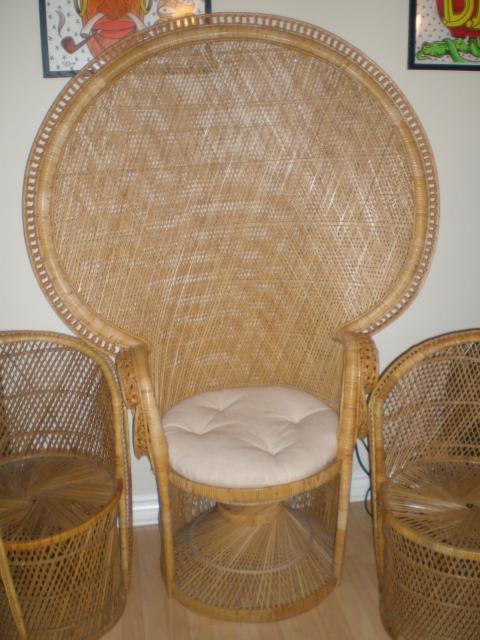 round wicker chair bathroom rail whaddaya call those big chairs tiki central
