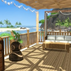 How To Build Your Own Kitchen Island Door Knobs And Pulls Sea Breeze - Beach House Tiki's Sims 3 Corner