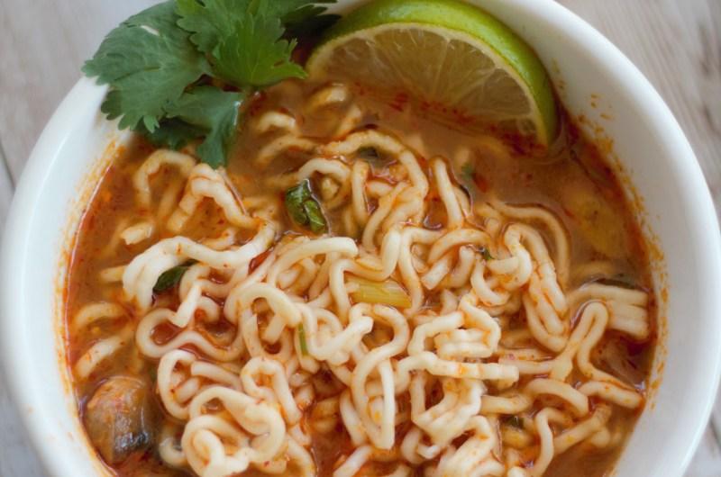 Tom Yum Ramen Noddle Soup