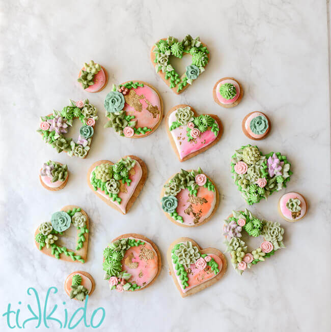 Succulent Garden Cookie Tutorial