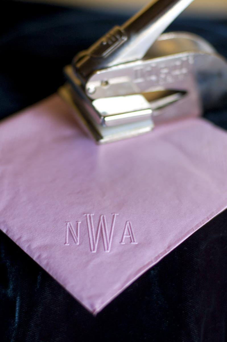 Easy DIY Monogram Cocktail Napkins