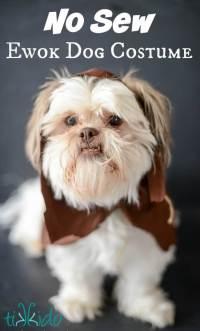 Easy Ewok No Sew Dog Costume Tutorial