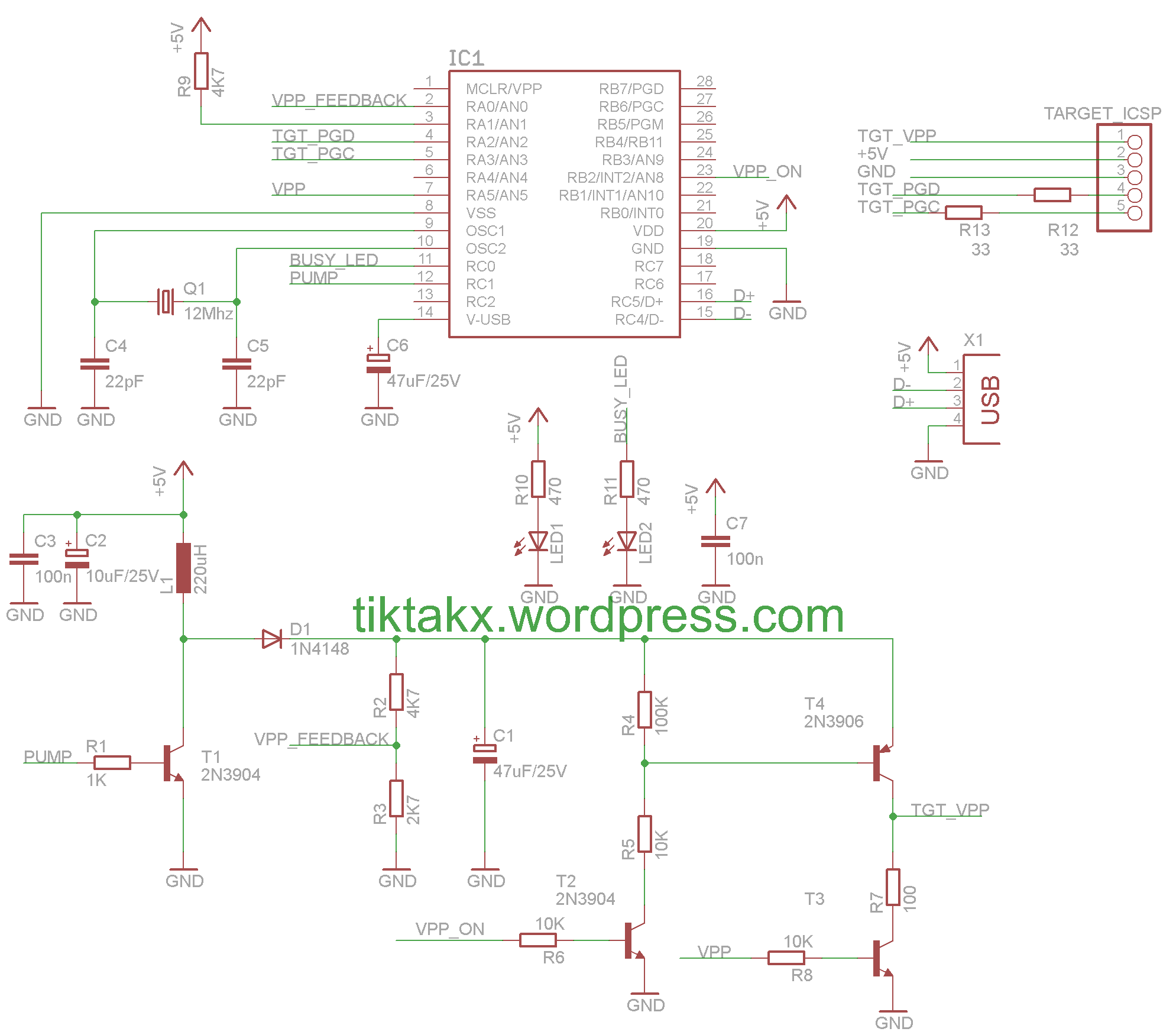 pickit 2 programmer circuit diagram mile marker 8000 winch wiring digital electronics tiktak 39s projects page