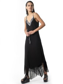 STAND OUT Jersey Fringe Dress