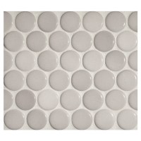 Penny Round Mosaic | Light Diamante - Gloss | Complete ...