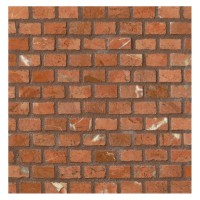 Mini Brick Mosaic Tile | Polished Muse Red Marble