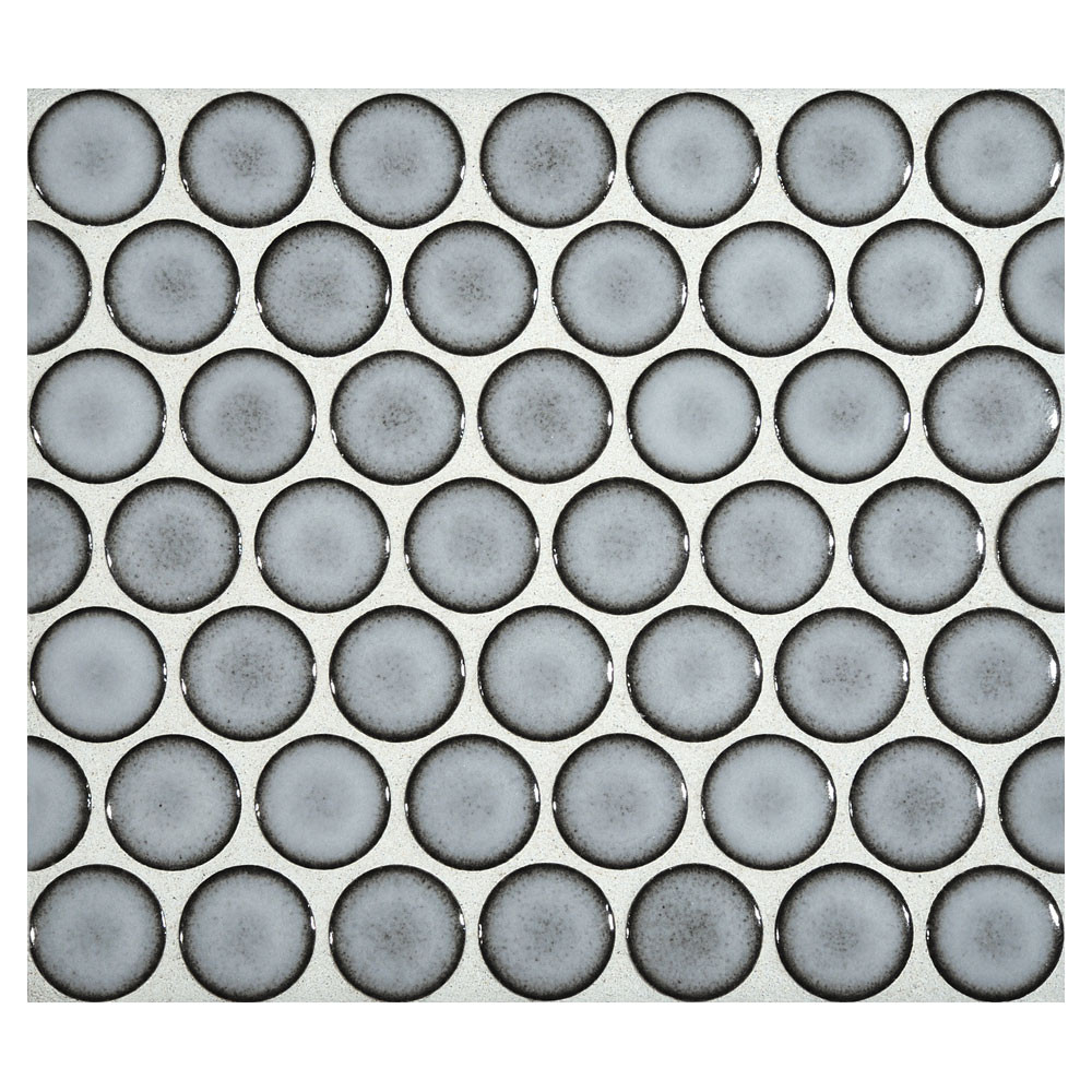 penny round mosaic blue frost gloss