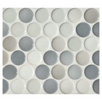 Penny Round Mosaic | Graphite Blend Gloss | Complete Tile ...