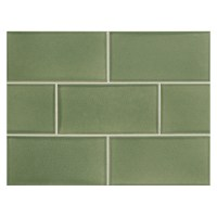 Ceramic Tile: Green Ceramic Subway Tile