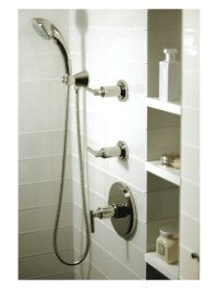 Guest Bath Shower Niche | Mid Town NYC Residence