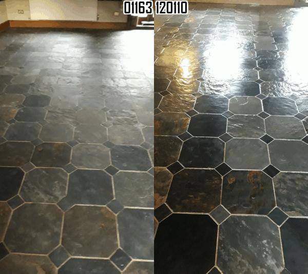 slate tile grout clean polishing
