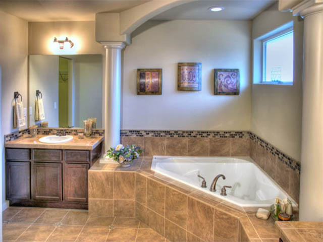Tile stone and grout installation bathroom renovation