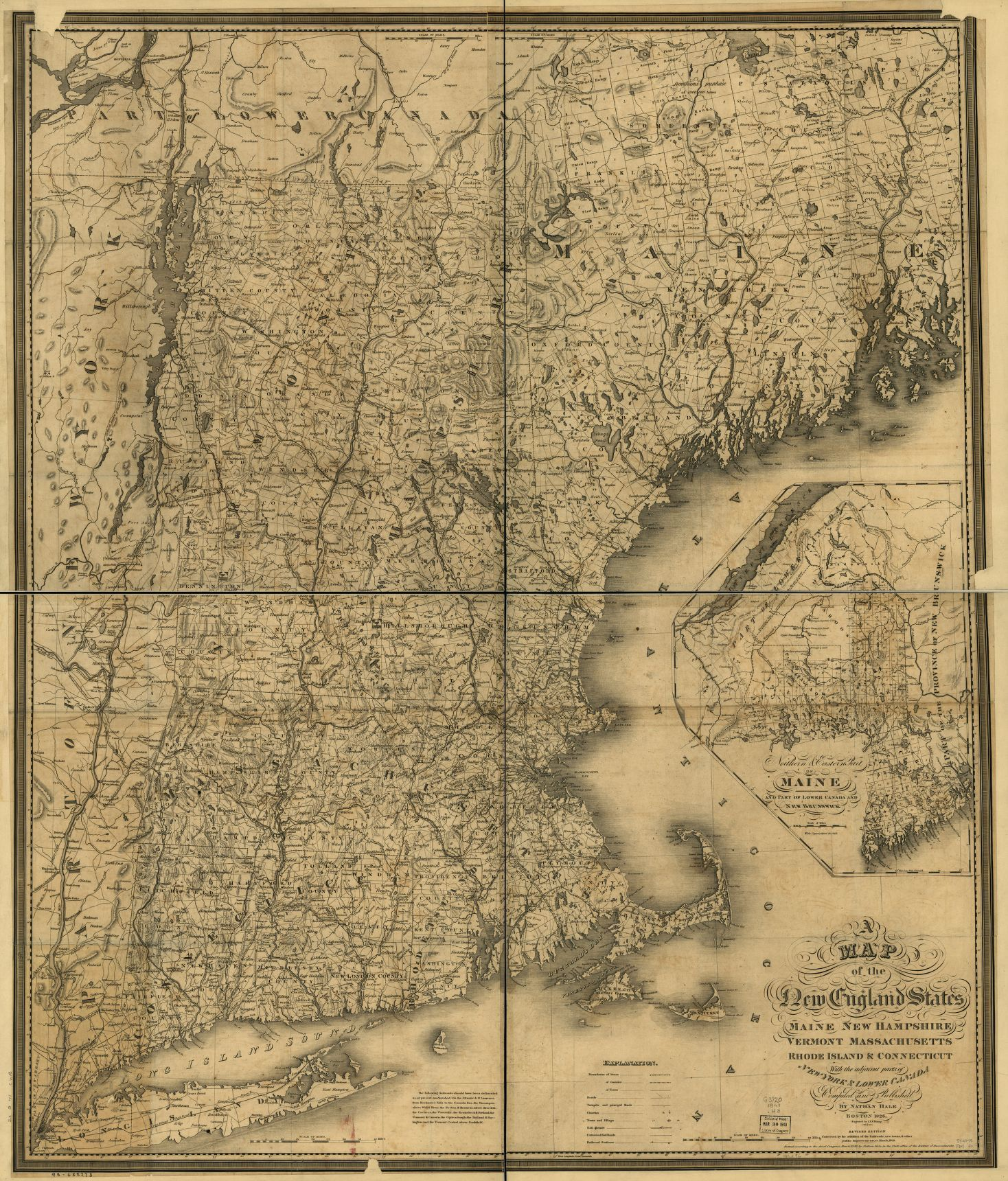 A Map Of The New England States Maine New Hampshire