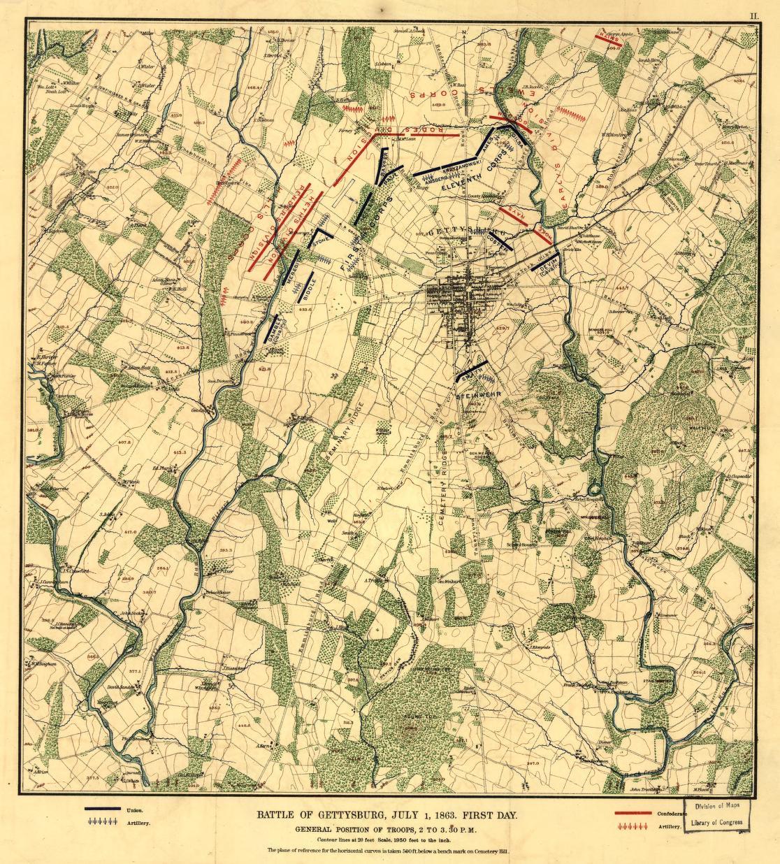 Civil War Maps Available Online Gettysburg